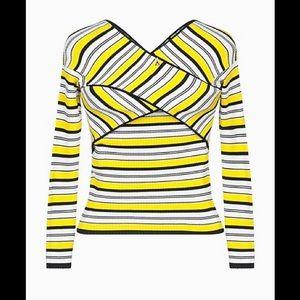Patrizia Pepe yellow ribbed sweater